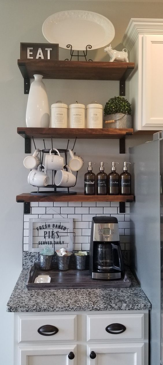 Diy Floating Shelves Kitchen Small Spaces