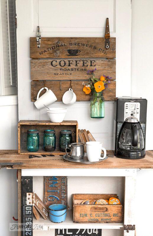 Enjoyable 38 Coffee Station Ideas Coffee Bar Hacks And Re Purposing Ideas Download Free Architecture Designs Grimeyleaguecom