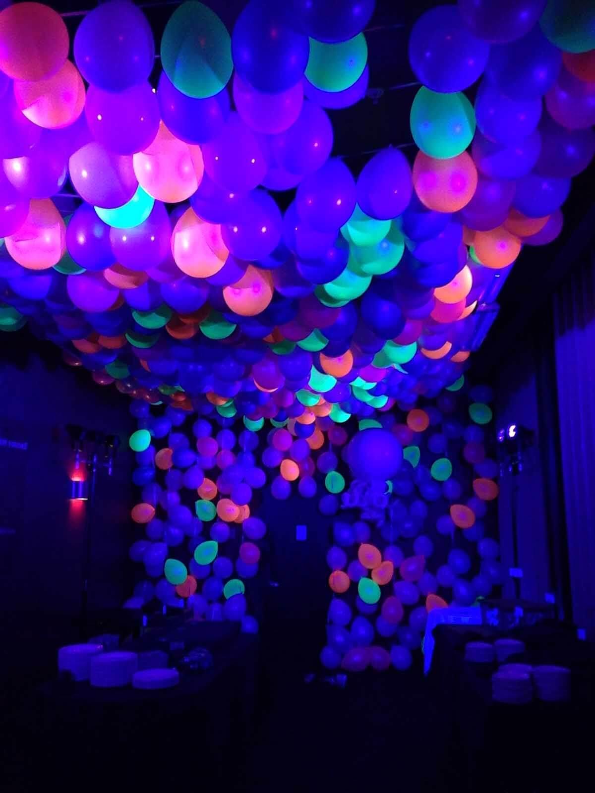 36 Glow in the Dark Star Balloons Cosmic Birthday Party Glow in the Dark Confetti Balloons