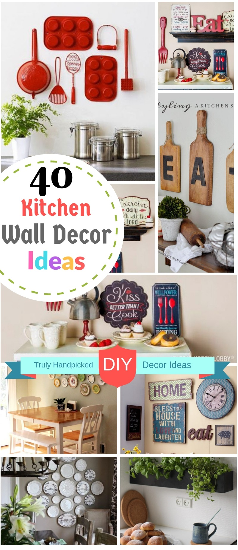 40 Diy Kitchen Wall Decor Ideas