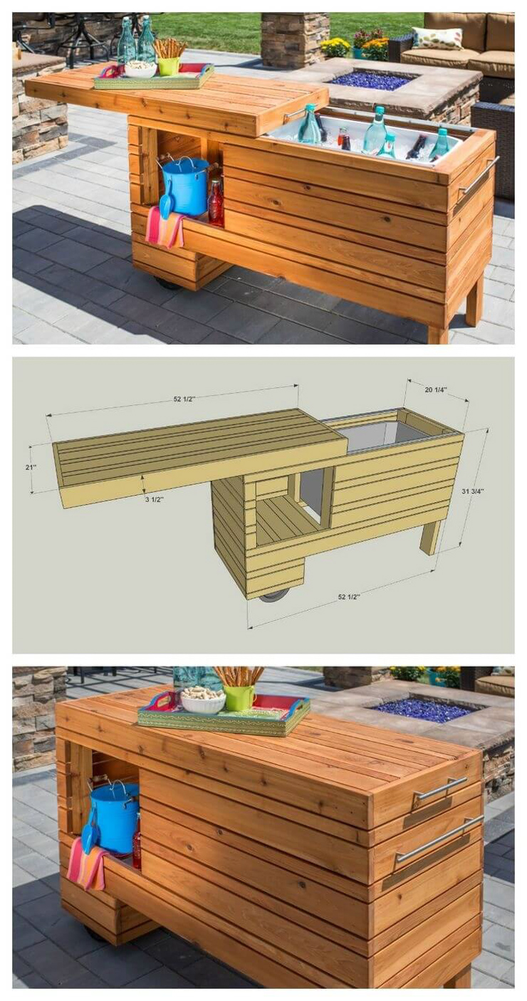 40 Diy Outdoor Bar Ideas Inexpensive Bar Setting And Table