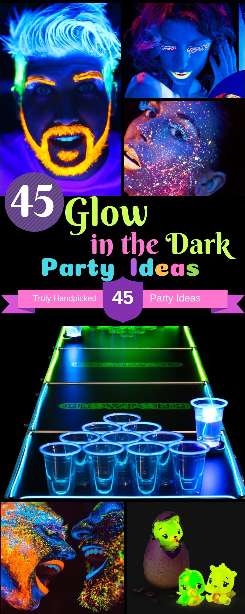 Amazing 45 Glow In The Dark Party Ideas Neon Night Glow Party Food Personalised Birthday Cards Petedlily Jamesorg