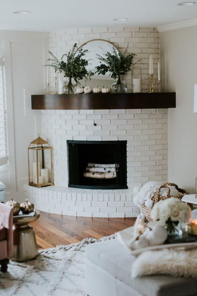 Repurposed Fireplace Mantle